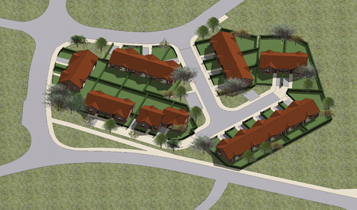 bungalows, layout, bungalow layout, Houghton Le Spring, housing scheme