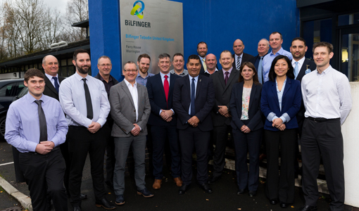The Bilfinger Tebodin team celebrate a successful first year at their Warrington offices